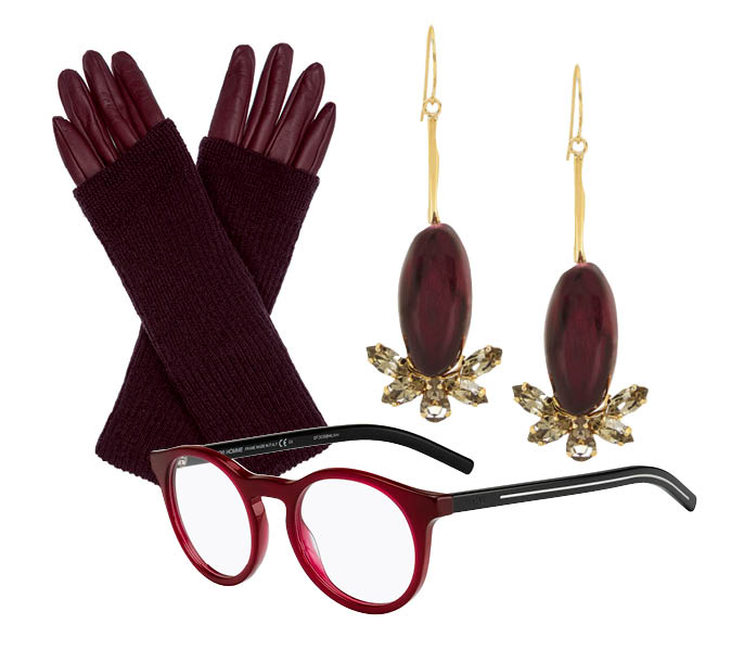 Выбор ELLE: перчатки Max&Co, серьги Marni, очки Dior
