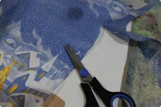 Декор предметов, Мастер-класс Декупаж: как соединить 2 салфетки м\к Салфетки Новый год. Фото 11