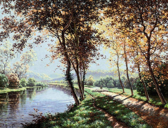 пейзажи художник Charles Edmond Rene-His - 05