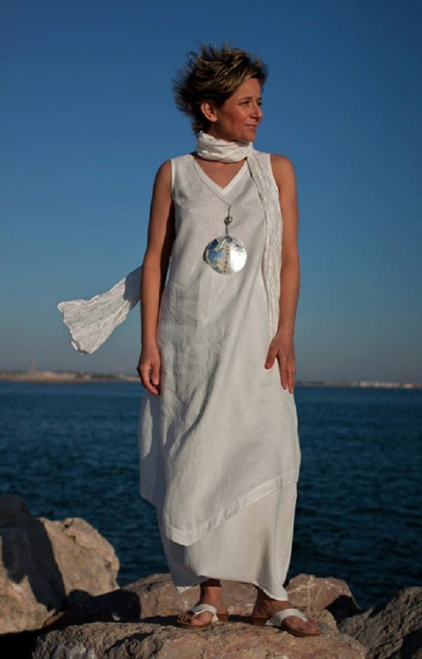 Платья из льна для полных женщин