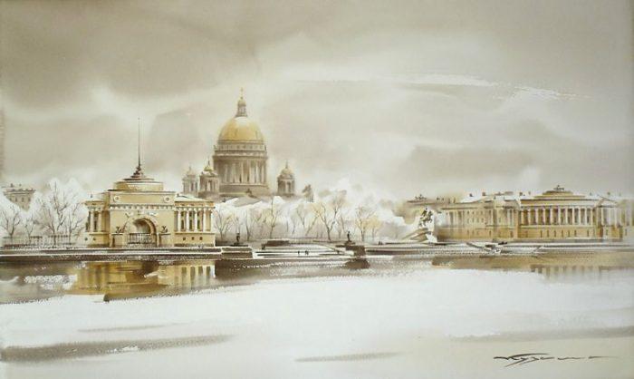 художник Константин Кузема акварель картины - 27