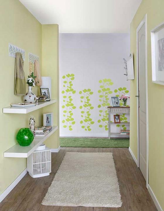 Идеи оформления стен коридор