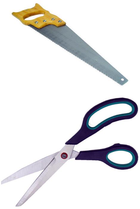 Обработка ножниц, гвоздей и режущих инструментов.