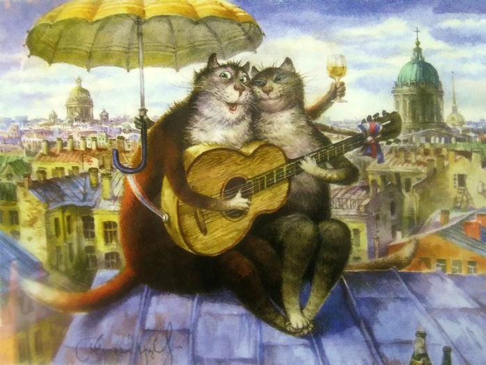 Питерские коты кто художница