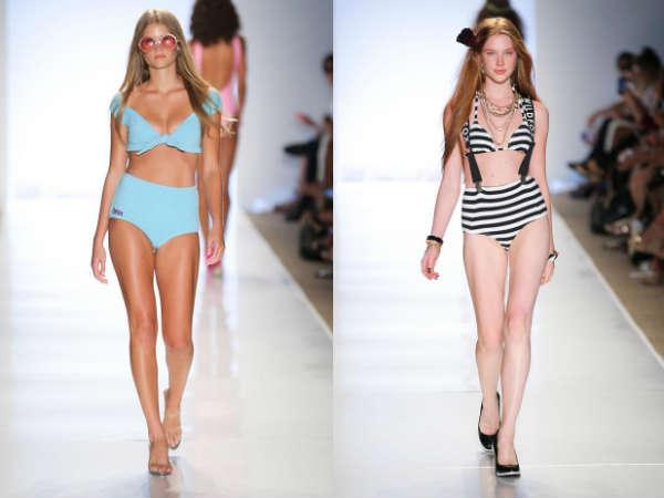 Модные купальники лето 2015: ретро стиль