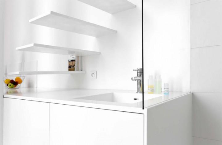 Дизайн интерьера квартиры студии - апартаменты в Париже площадью 15 квадратных метров