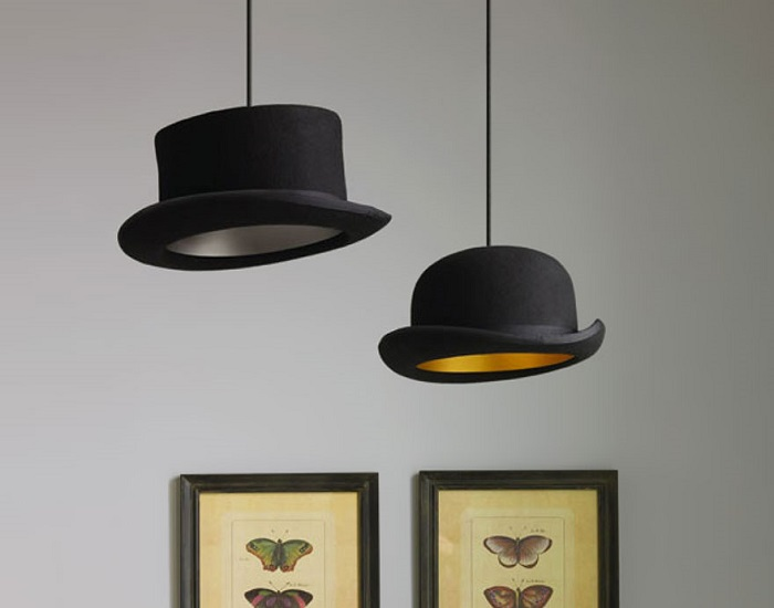 Эксклюзивная лампа в виде шляпы. / Фото: lifeguide.com.ua