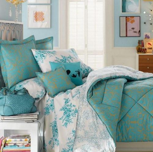 Мятная спальня для девочки фото