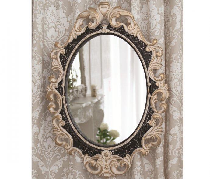 Стильное Винтажное зеркало в раме Слоновая кость Венге Золото Кракелюр  купить в Москве, цена, фото, описание