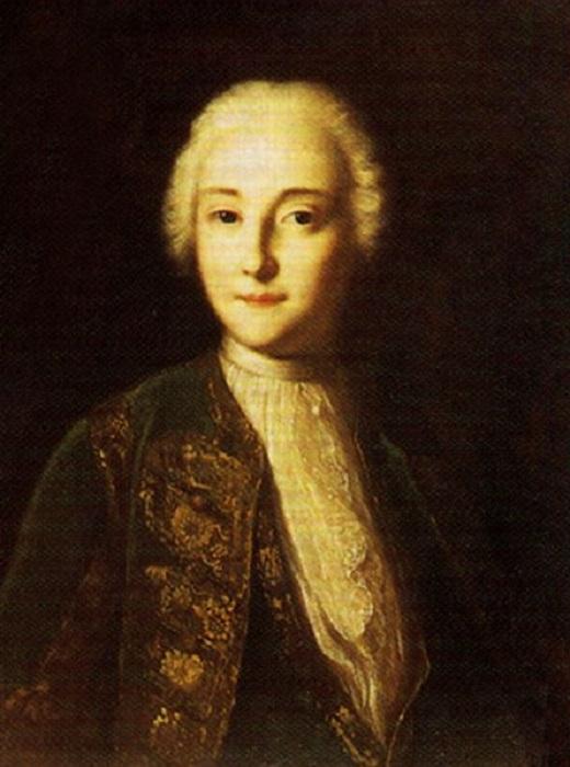 Портрет Елизаветы Петровны в мужском платье, Луи Каравак.