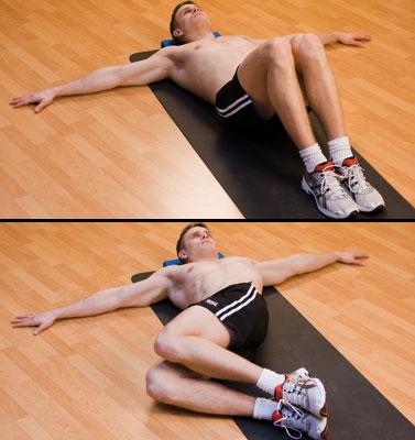 Упражнение на растяжку мышц спины