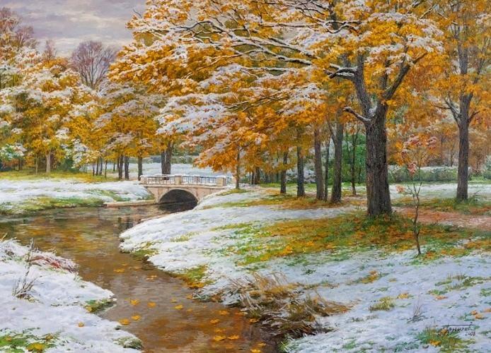 Первый снег (694x500, 498Kb)