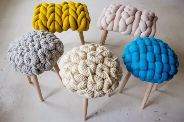 Вязаные стулья от лондонского дизайнера Claire-Anne O'Brien