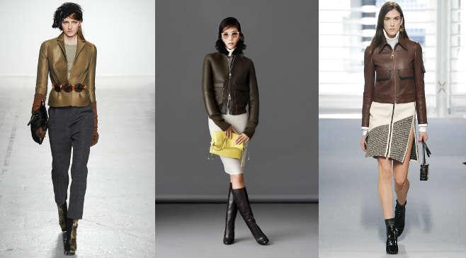 С чем носить куртки из цветной кожи