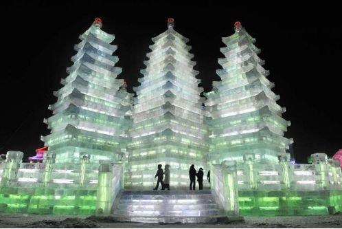 Восхитительные ледяные скульптуры (25 фото)
