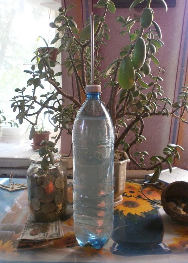 Самодельная лейка для полива. Фото.