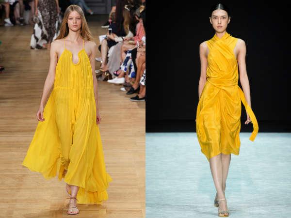 Модный желтый цвет весна-лето 2015