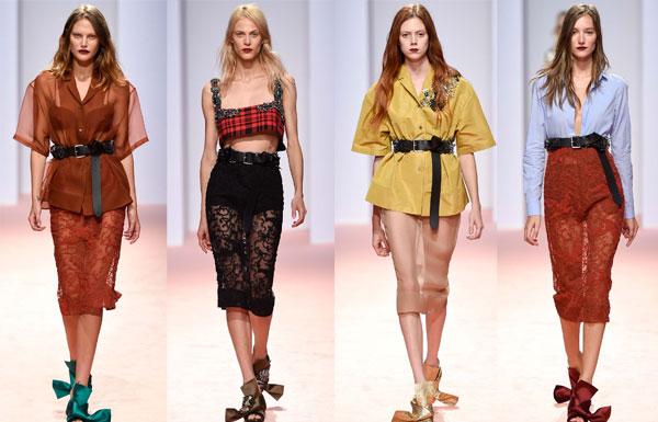 полупрозрачные юбки весна-лето 2015