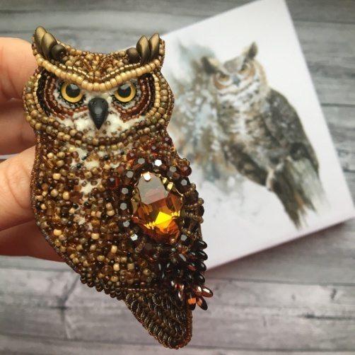 Птицы из бисера, брошь и удивительные украшения, мастер класс ...