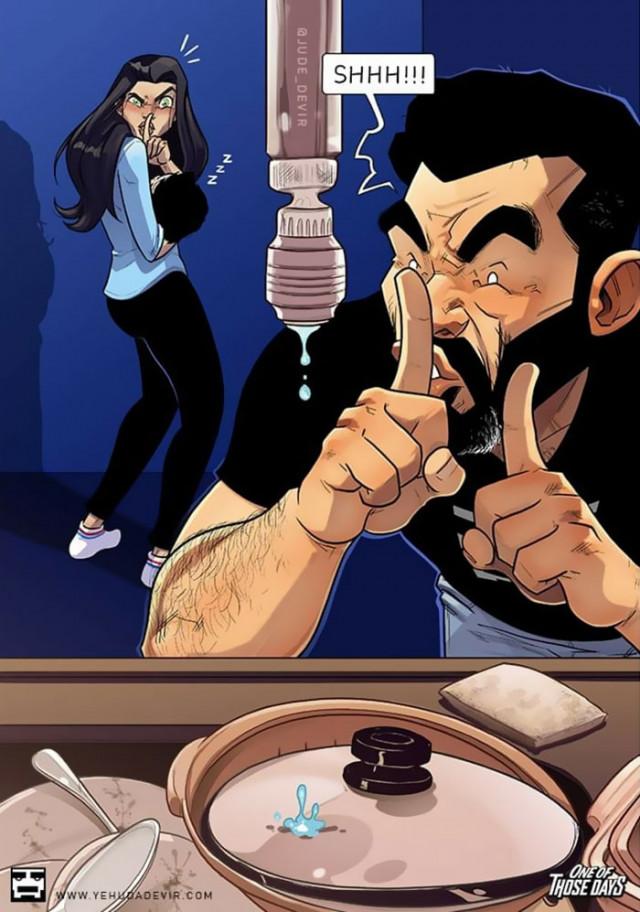Израильский художник очень смешно и правдиво изображает жизнь молодых родителей Юмор,приколы