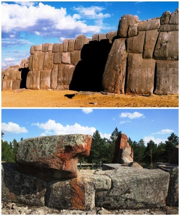 Образцы древней полигональной кладки созданной в Египте.   Фото: terrao.livejournal.com.