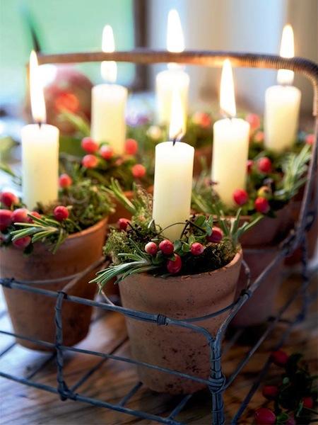 Navidad-Campestre-Velas-Country-Christmas-decorations-candles