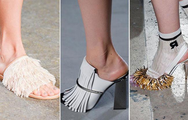 Обувь с бахромой и мехом - тенденции весна-лето 2015