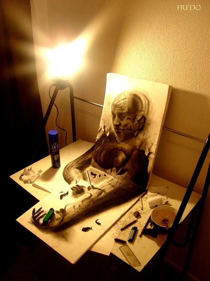 3Ddrawings23 Самые впечатляющие карандашные 3D рисунки от художников со всего света