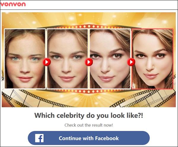 """Поиск по фото из профилей Facebook """"Vonvon"""""""