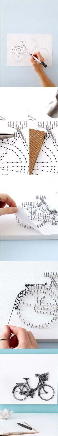 Панно из гвоздей и ниток: 70 идей, которые вдохновят на создание шедевров 451
