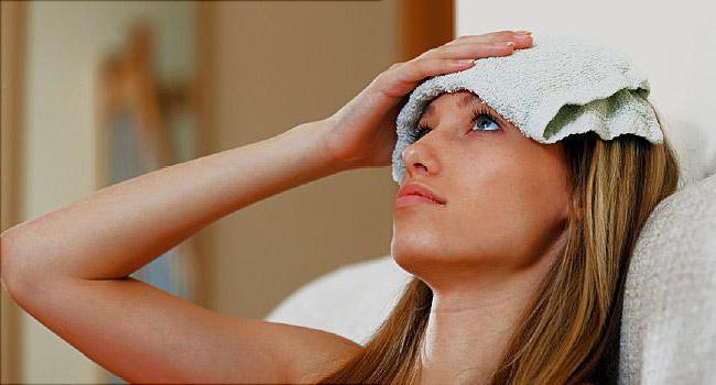 болит голова держится температура