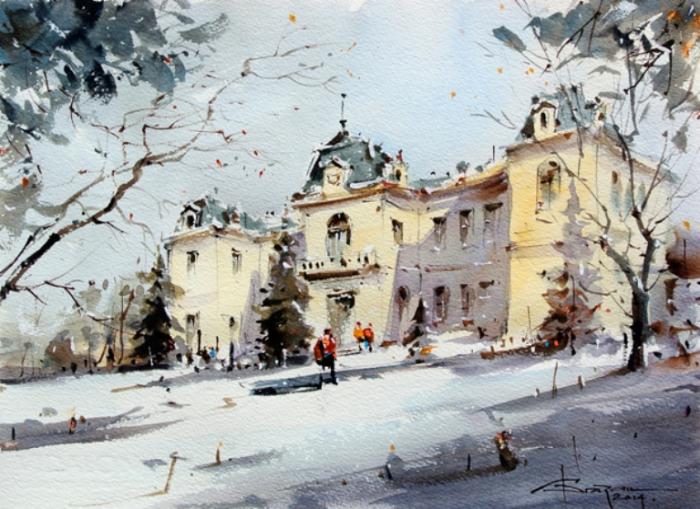 Первый снег. Автор: Corneliu Dragan-Targoviste.
