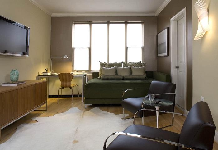 Зонирование пространства поможет разграничить отдельные участки для отдыха и приёма гостей.