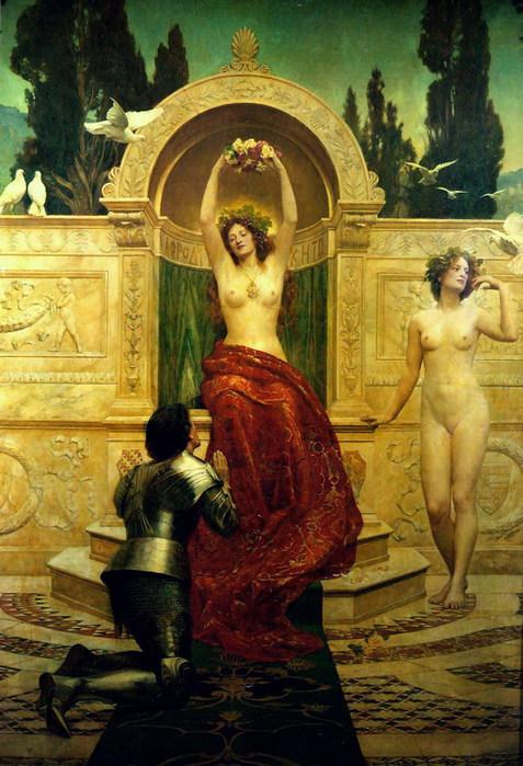 Тангейзер в храме Венеры 1901 (477x700, 115Kb)