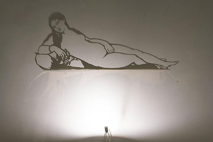 shadows05 Художник, рисующий тенью