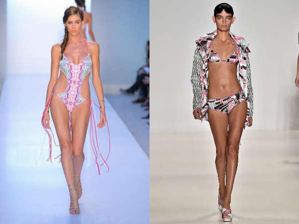 Модные купальники лето 2015: модные принты