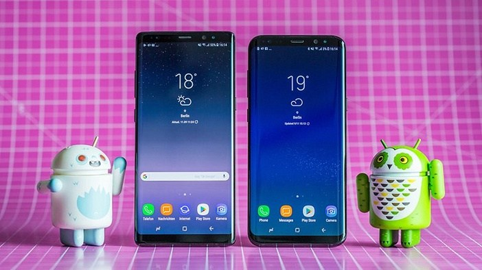 Samsung Note 8 и S8+ бок о бок