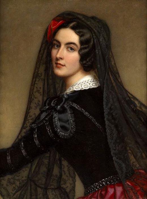 Она называла себя испанской танцовщицей и обладала воистину экзотической красотой.
