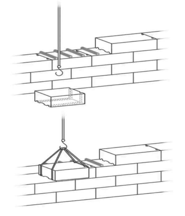 Для поднятия камня использовали канаты (тросы) и лебедки