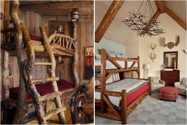 Спальни в деревенском стиле