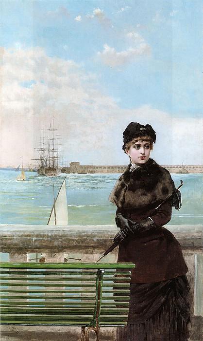 Элегантная дама в Сен-Мало. Витторио Маттео Коркос