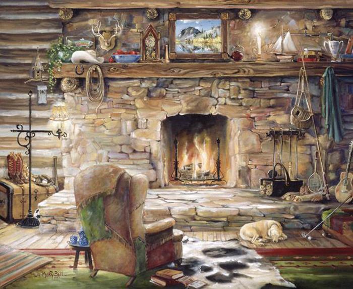 Дом, милый дом, ты наполнен  уютом и теплом. Автор: Marty Bell.