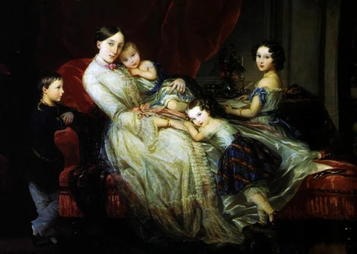 Мария Николаевна, герцогиня Лейхтенбергская с детьми. / Фото: www.wikimedia.org