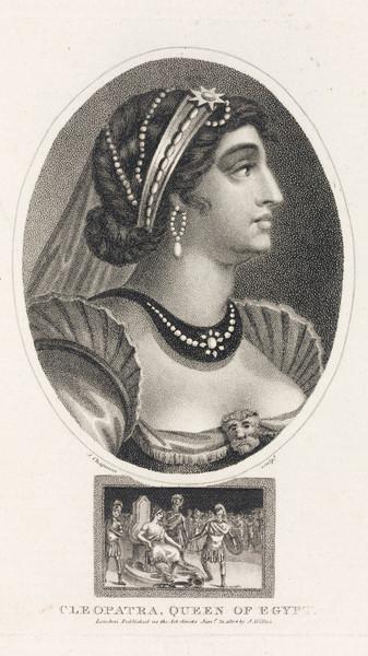 На портретах Клеопатру изображают в жемчуге.