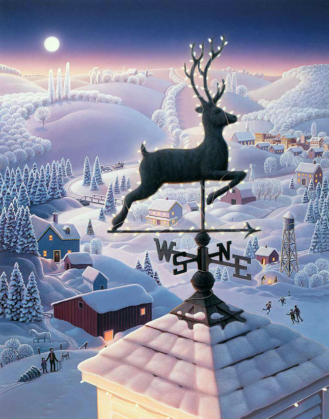 Зимняя сказка от Робин Молине