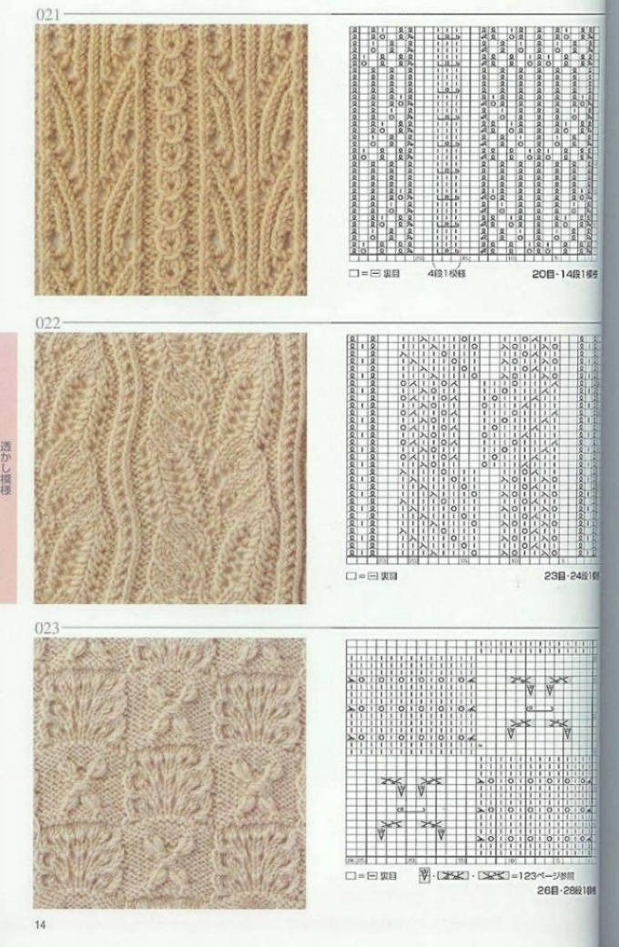 Схемы узоров для вязания женских жилетов спицами, пример 3