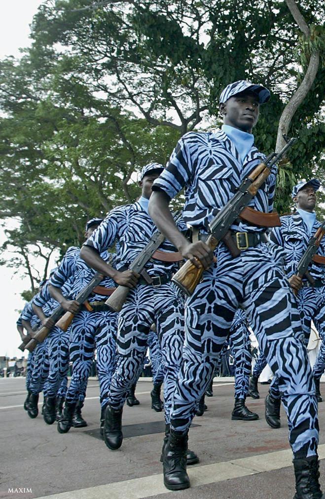 Costa do Marfim Estilo, exército, guerra, mundo, forma, roupas, forma