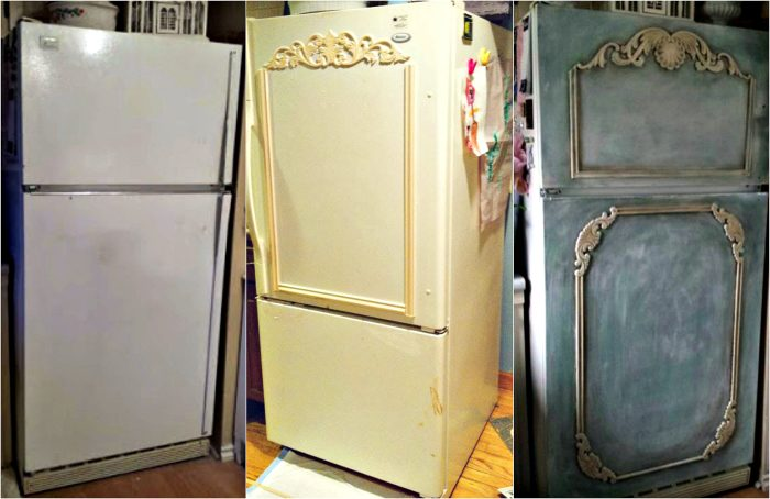 Декор старого холодильника