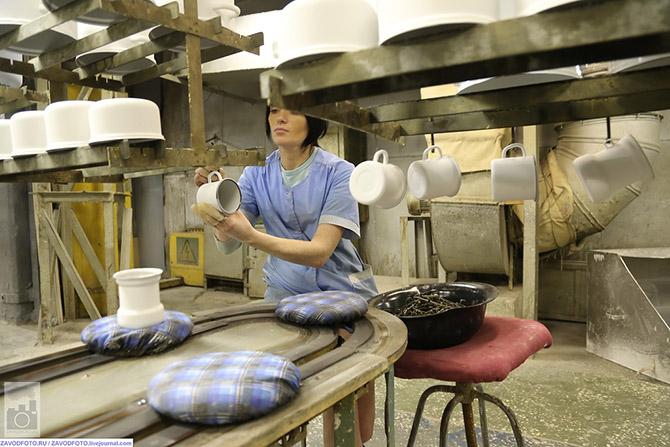 Как производится эмалированная посуда в России
