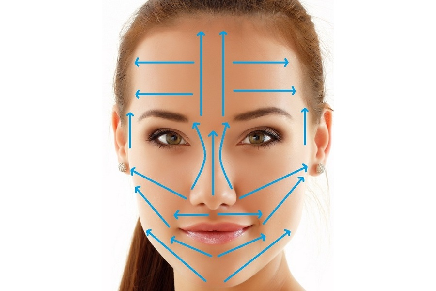 схема вакуумный массаж для лица
